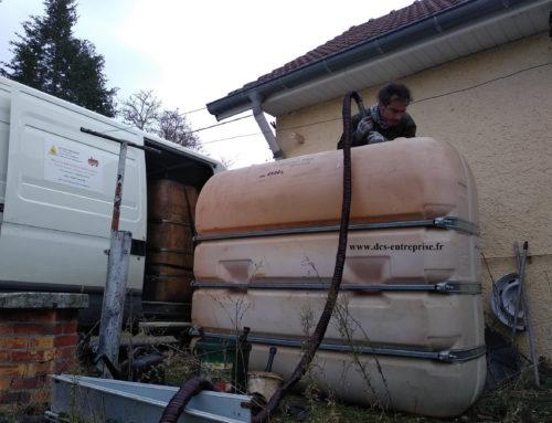 Nettoyage d'une cuve à fioul à Lomont (70)